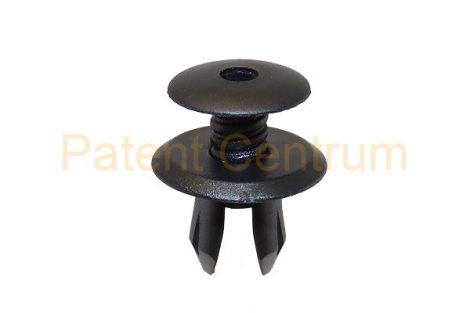 02-033   VOLKSWAGEN T4, PHAETON,  belsőburkolat, raktér és csomagtér rögzítő patent. Furat: 9 mm.  Szín: fekete.  Gyári cikkszám: 70186729901C