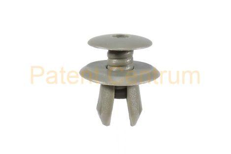 02-034   VOLKSWAGEN  T4 belsőburkolat, raktér rögzítő patent.  Furat: 9 mm.  Szín: szürke.   Gyári cikkszám: 7018672991Y