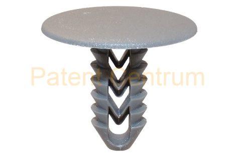 05-040    FIAT DUCATO, MULTIPLA belsőburkolat rögzítő patent,  Furat: 9,5 mm,  Szín: szürke,  Gyári cikkszám: 1302812670, 735266009