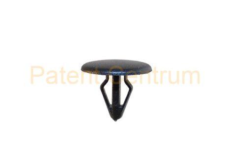 06-011   MAZDA  géptető gumiszegély rögzítő patent. Furat: 5,5 mm Hossz: 10,5 mm Fej átmérő: 14 mm Szín: fekete.  Gyári cikkszám: B455-56-741