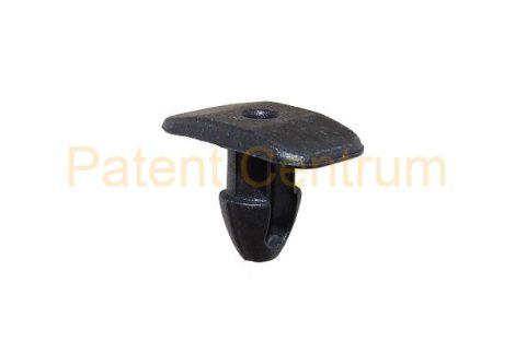 06-016   FIAT ajtó és géptető gumiszegély rögzítő patent. Furat: 7 mm Hossz: 11,4 mm Fej átmérő: 10*18 mm Szín: fekete.  Gyári cikkszám: 82382670