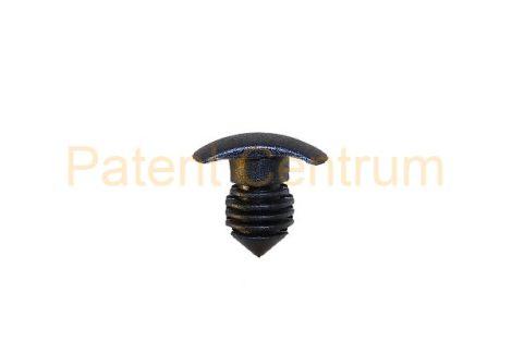 06-021   VOLKSWAGEN  POLO, CADDY géptető gumiszegély rögzítő patent. Furat: 5,5-6 mm Hossz: 10 mm Fej átmérő: 6,5*7 mm Szín: fekete.   Gyári cikkszám: GKO823717