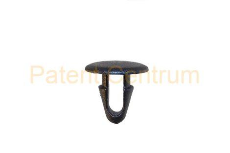 06-022    TOYOTA géptető gumiszegély rögzítő patent. Furat: 6 mm Hossz: 11,5 mm Fej átmérő: 12,5 mm Szín: fekete. Gyári cikkszám: 90467-08011