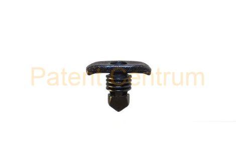 06-025    MERCEDES 300, 400, 500, 600 ajtó gumiszegély rögzítő patent.  Furat: 5 mm, Hossz: 8,5 mm, Fej átmérő: 5,2*13 mm. Szín: fekete. Gyári cikkszám: 0009971386