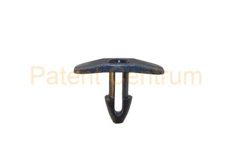 06-026  PEUGEOT, 307, 406, BOXER géptető gumiszegély rögzítő patent.  Furat: 4,5 mm Hossz: 11 mm Fej átmérő: 8*18 mm Szín: fekete.   Gyári cikkszám: 871067
