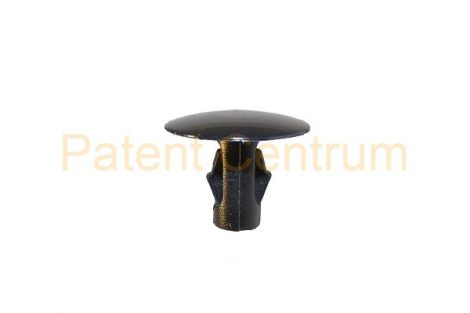 06-027    TOYOTA YARIS, Lexus géptető gumiszegély rögzítő patent. Furat: 5 mm Hossz: 10,5 mm Fej átmérő: 14 mm Szín: fekete.  Gyári cikkszám: 9046707175