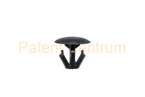 06-029   HONDA gépháztető gumiszegély rögzítő patent Furat: 6-6,5 mm Hossz: 9,1 mm Fej átmérő: 12 mm Szín: fekete. Gyári cikkszám: 91518SM4003