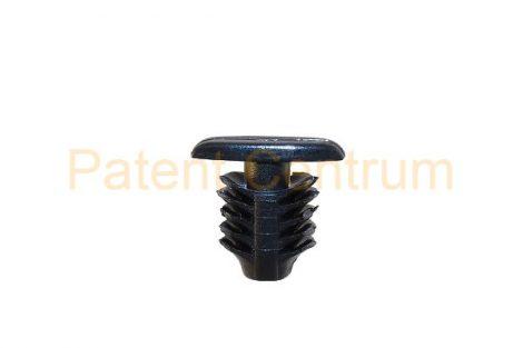 06-036   KIA CARNIVAL, PICANTO, RIO ajtó gumiszegély rögzítő patent.  Furat: 7 mm Hossz: 11 mm Fej átmérő: 4,6*13,3 mm Szín: fekete.  Gyári cikkszám: 864384A100