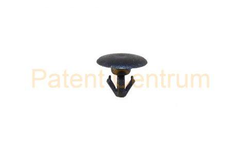 06-041    MAZDA 3, NISSAN gumiszegély rögzítő patent.  Furat: 4 mm Hossz: 7 mm Fej átmérő: 9,4 mm Szín: fekete.  Gyári cikkszám: BP4K58762
