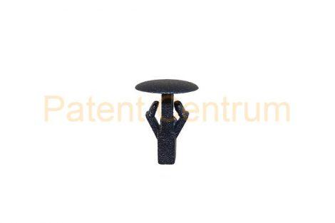 06-043   JAPAN modellek gumiszegély rögzítő patent Furat: 4,5 mm Hossz: 10,3 mm Fej átmérő: 8,4 mm Szín: fekete