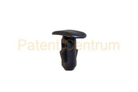 06-044   RENAULT gumiszegély rögzítő patent.   Furat: 5,5 mm Hossz: 12 mm Fej átmérő: 7*14,5 mm Szín: fekete.  Gyári cikkszám: 82176228