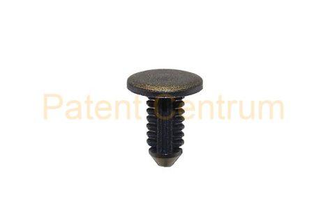 06-047    PEUGEOT 106, 205, 306 ajtó gumiszegély rögzítő patent Furat: 4,5 mm Hossz: 12 mm Fej átmérő: 11,5 mm Szín: fekete. Gyári cikkszám: 696633