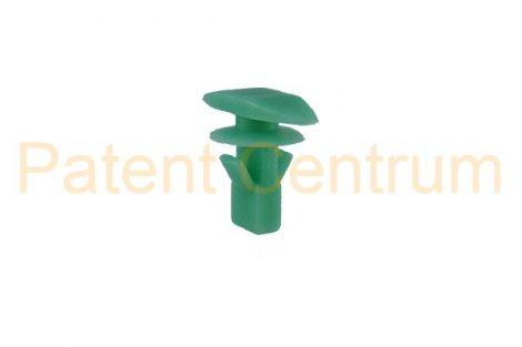 06-049    HONDA, TOYOTA gumiszegély rögzítő patent.  Furat: 5,5 mm Hossz: 8 mm Fej átmérő: 5*15 mm. Gyári cikkszám: 91568-SR2-003, 6786712150