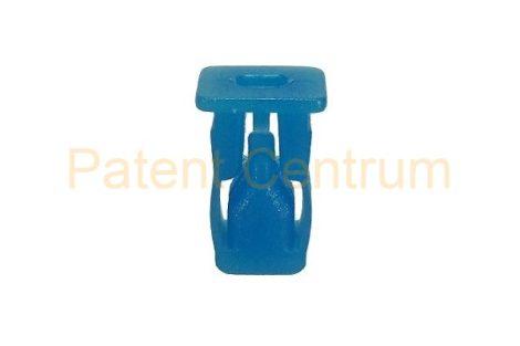 08-002   FIAT univerzális négyszög műanyag anya Furat: 8*8 mm,  Szín: kék,   Gyári cikkszám: 14202782