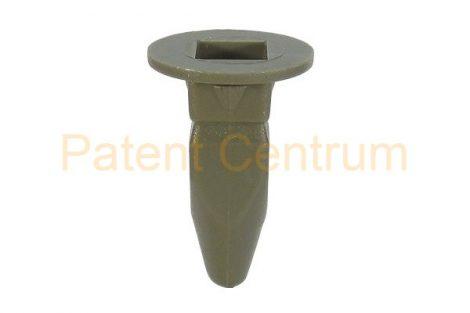 08-034   VOLKSWAGEN  GOLF III. négyszög műanyag anya, dobbetét patent,  Furat: 8*8 mm,