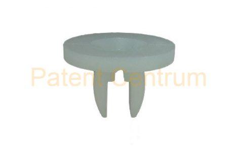 08-051   FORD kerékjárati dobbetét rögzítő patent,  négyszög műanyag anya.  Furat: 8*11 mm,   Gyári cikkszám: 6150260