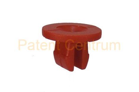 08-052   FORD motor alsó burkolat rögzítő, kerékjárati dobbetét patent, négyszög műanyag anya.  Furat: 7,5*10 mm,   Gyári cikkszám: 1019377