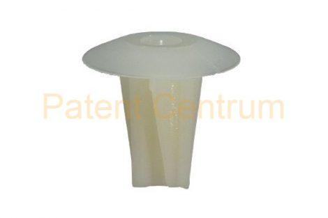 08-056   FORD ajtókárpit rögzítő patent,  négyszög műanyag anya.  Furat: 9*9 mm,  Gyári cikkszám: 1007902, 1659672