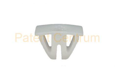 08-057    ALFA hűtődíszrács,  embléma rögzítő patent, négyszög műanyag anya.  Csap: 13*6 mm.   Gyári cikkszám: 60509945