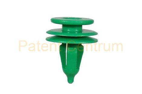10-401    CHRYSLER VOYAGER,  '96-tól, JEEP CHEROKEE,  ajtókárpit patent,   Furat: 7 mm,  Szín: zöld,   Gyári cikkszám: 6503204