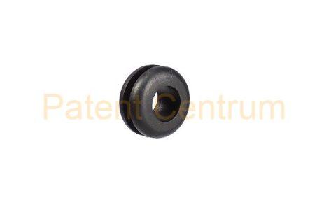 11-001  Gumiátvezető  Furat: 7,5-8 mm Vezeték: 5,5 mm Lemeza. vast.: 1,8 mm