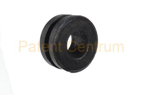 11-008   Gumiátvezető  Furat: 15 mm Vezeték: 10 mm Lemeza. vast.: 2,6 mm