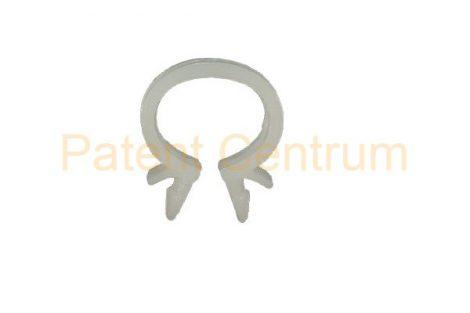 14-003    Vezetékrögzítő, omega patent. Furat: 6,5 mm. FIAT, ALFA: 14570180, MERCEDES:A0009957644,  CITROEN, PEUGEOT: 698681  7903079011 RENAULT: 7703079072IVECO