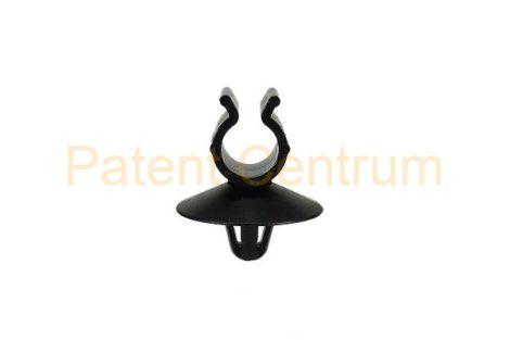 14-024   Vezetékrögzítő patent.  Furat: 6,5 mm Vezeték: 8 mm Szín: fekete.  KIFUTÓ TERMÉK!!!