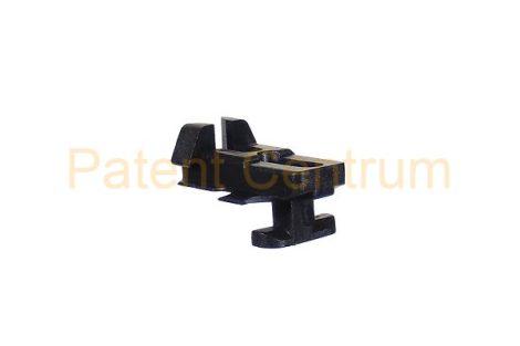 21-046   AUDI 80, 90 COUPE ajtó vízlehúzó krómdíszléc rögzítő patent.  Gyári cikkszám: 811853329E