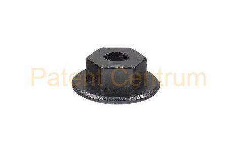 26-004   OPEL lökhárító, dobbetét patent, anya.  Méret: 5 mm Alátét: 16 mm Magasság: 6 mm Szín: fekete.   Gyári cikkszám: 171953