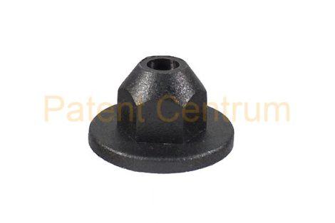 26-008   AUDI, VW dobbetét, lökhárító patent, anya. Méret: 5,5 mm Alátét: 18,5 mm Magasság: 10,5 mm.  Gyári cikkszám: 1711201969