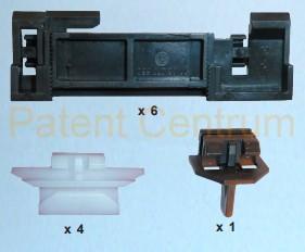 30-043  Renault  Laguna '94-'01 szélvédő díszléc patent. Gyári cikkszám: 7701367683,   Eurocode 7237AKCH