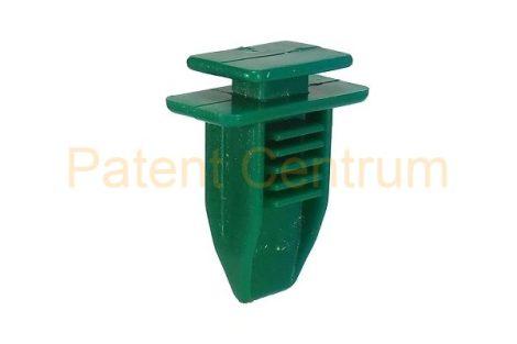 69-012  FIAT   oldalkárpit patent.  Csap: 7*10 mm Szín: zöld