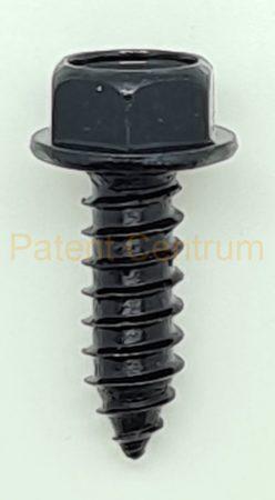 71-105    Ford, USA hat lapfejű peremes fekete lemezcsavar. Gyári cikkszám: 55914-S2