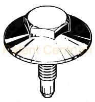 73-405  Metrikus hat lap fejű peremes csavar. ALFA, FIAT, LANCIA. Méret: M 8 x 20mm.